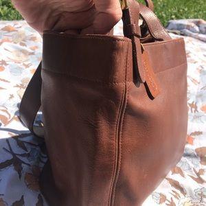 Coach Bags - COACH Vintage Brown Tan Leather Purse No.G6C-4157